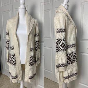 Moda International Fair Isle Belt Sweater